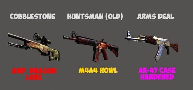 список кейсов и оружий в кс го