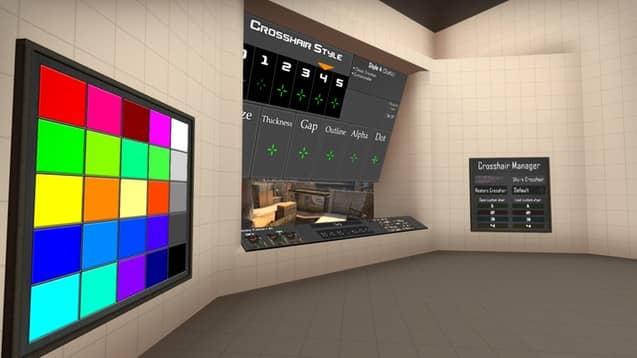карта для настройки прицела CS:GO