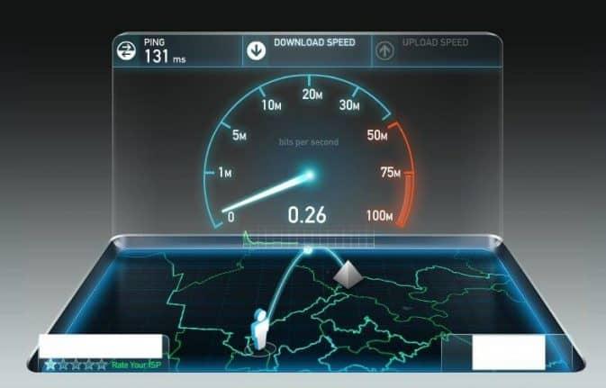 Низкая скорость интернет соединения