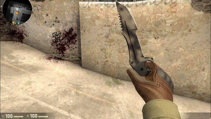 Охотничий нож кс го