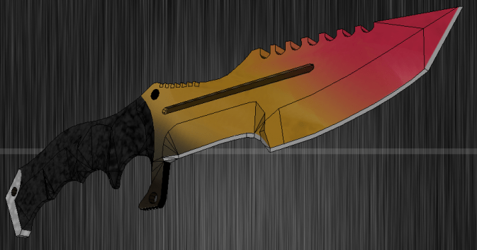 Охотничий нож рисунок