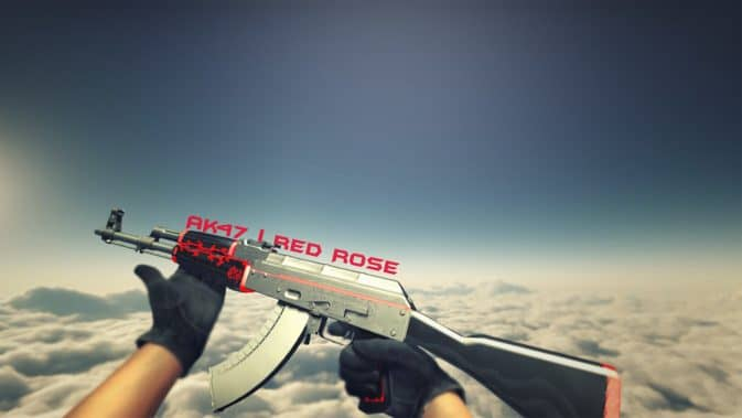 Модель AK-47-Red Rose для CS:GO