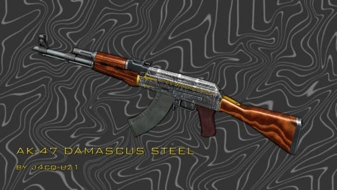 Модель Ak47 Damascus Steel для CS:GO
