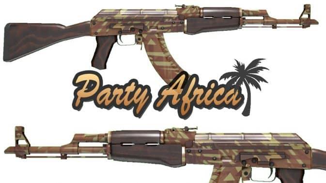 Модель AK47 Party Africa для CS:GO