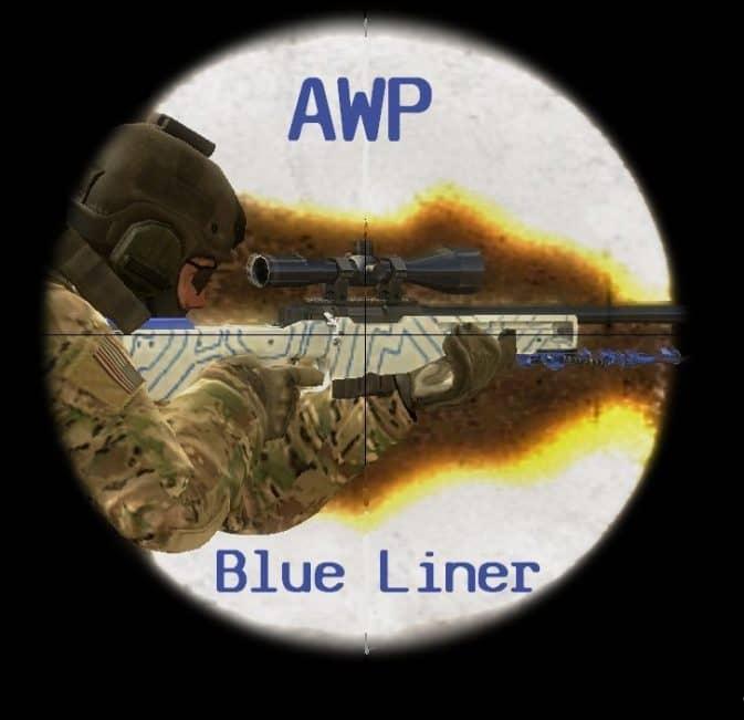 Модель AWP Blue Liner для CS:GO