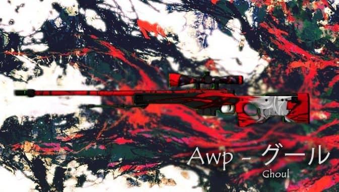 Модель Awp - Ghoul (Tokyo Ghoul) для CS:GO