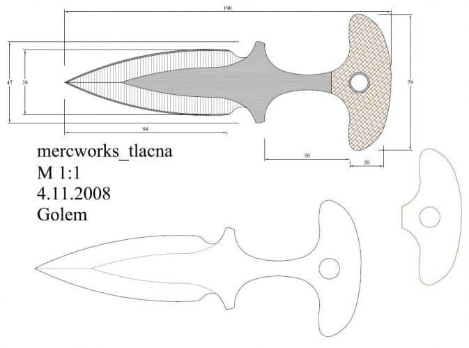 Тычковые ножи кс го чертеж