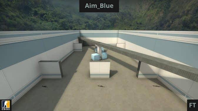 Карта Aim_Blue для CS:GO