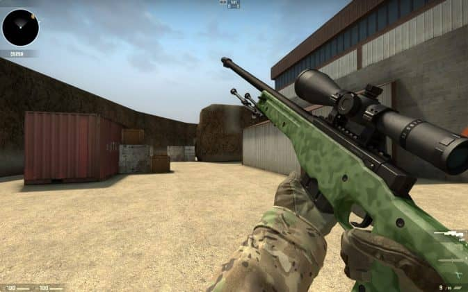 Модель AWP - Green Camo with Black Scope для CS:GO