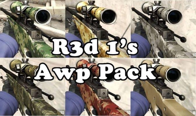 Модель R3d 1's Awp Pack для CS:GO