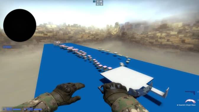 Карта bhop_brightness для CS:GO