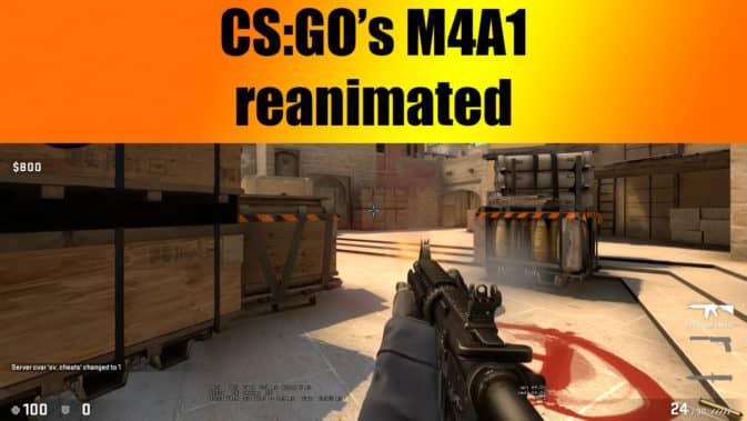 Скин M4A1 reanimated для CS:GO