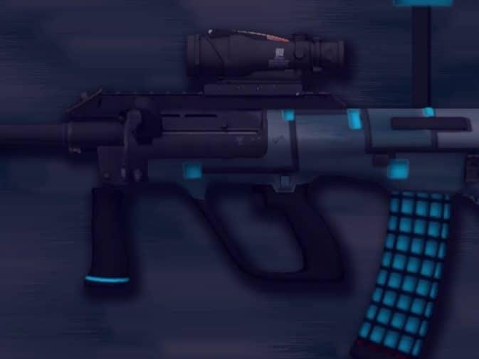 Модель AUG - Blue Metal для CS:GO