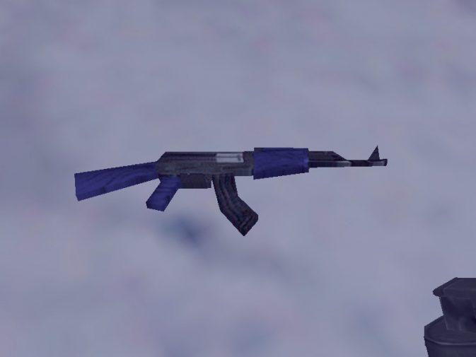 Модель Ak47 Blue Recolor для CS:1.6