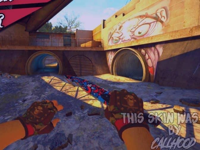 Модель Gut - Graffiti v1 для CS:GO