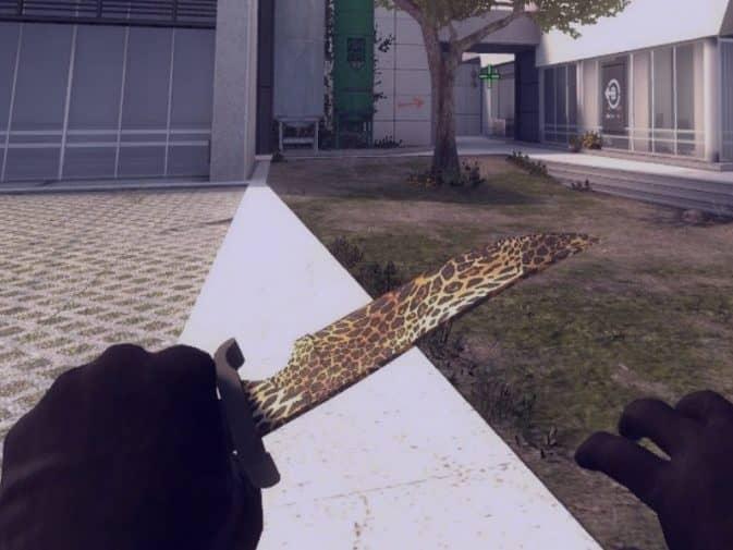 Модель Knife - Leopard temptation для CS:GO