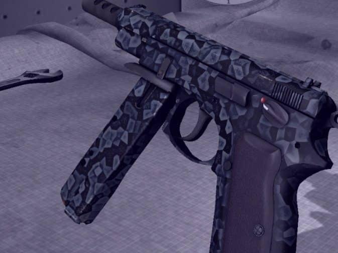 Модель CZ75-Auto - Crystallized Blue для CS:GO