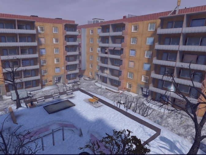 Карта de_hogsatra_2k21_snow для CS:S