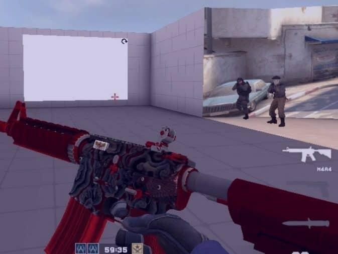 Модель M4A1 - Red Batik для CS:GO