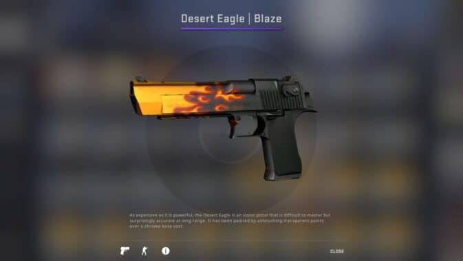 desert eagle Пламя
